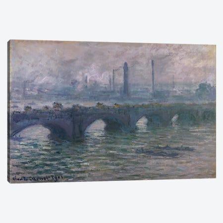 Waterloo Bridge, 1901 Canvas Print #BMN265} by Claude Monet Art Print