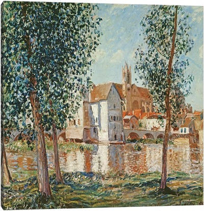 The Loing at Moret, September Morning  Canvas Art Print