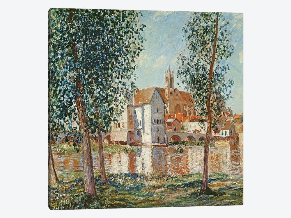 The Loing at Moret, September Morning  by Alfred Sisley 1-piece Art Print