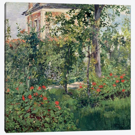 The Garden at Bellevue, 1880  Canvas Print #BMN2661} by Edouard Manet Canvas Artwork