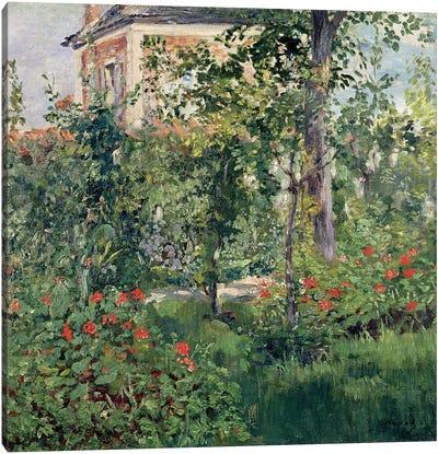 The Garden at Bellevue, 1880  Canvas Art Print