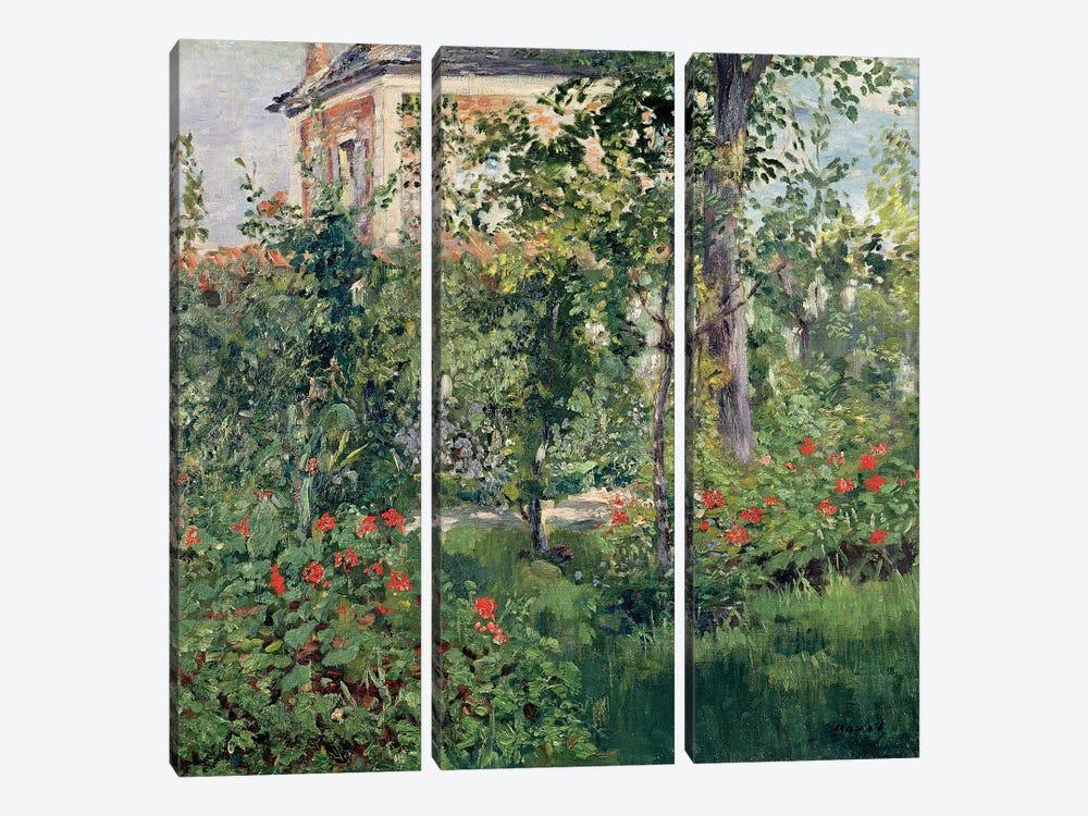 The Garden at Bellevue, 1880  by Edouard Manet 3-piece Canvas Artwork