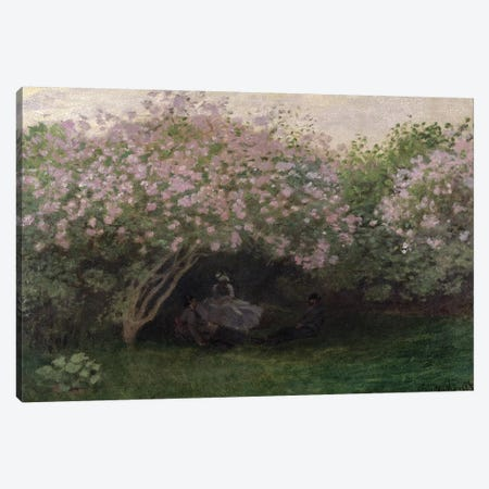Lilacs, Grey Weather, 1872  Canvas Print #BMN2662} by Claude Monet Canvas Wall Art