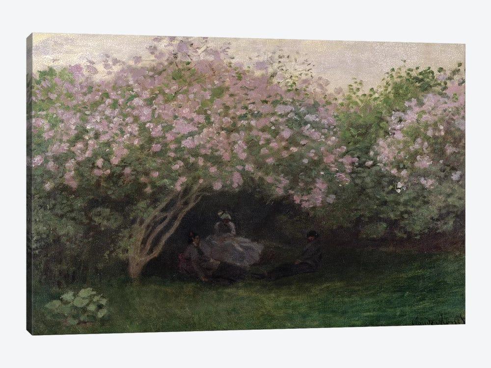 Lilacs, Grey Weather, 1872  by Claude Monet 1-piece Canvas Print