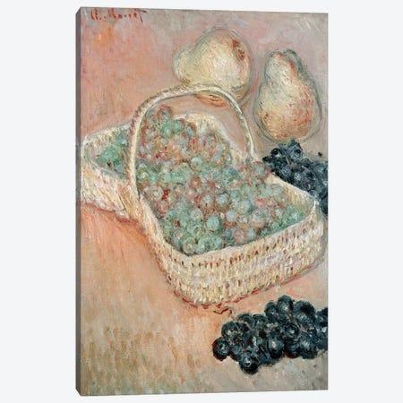 The Basket of Grapes, 1884  Canvas Print #BMN2663} by Claude Monet Canvas Artwork