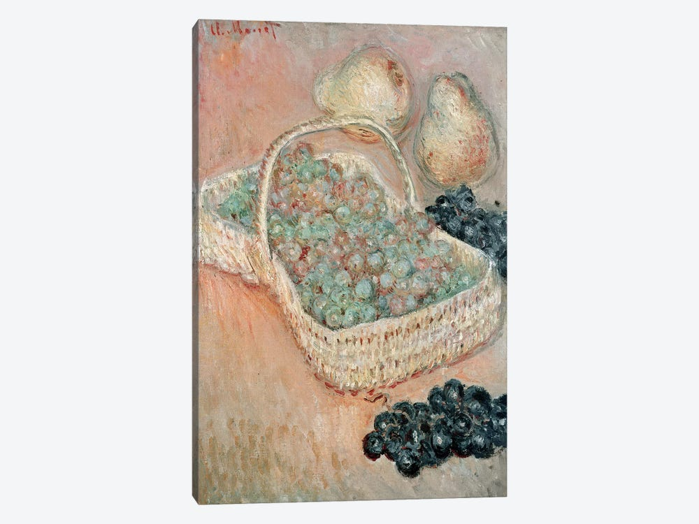 The Basket of Grapes, 1884  by Claude Monet 1-piece Canvas Wall Art