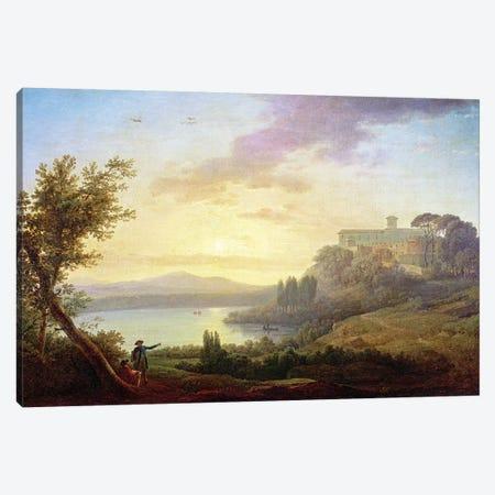Italian Landscape, Setting Sun  Canvas Print #BMN2664} by Jean-Francois Hue Canvas Art Print
