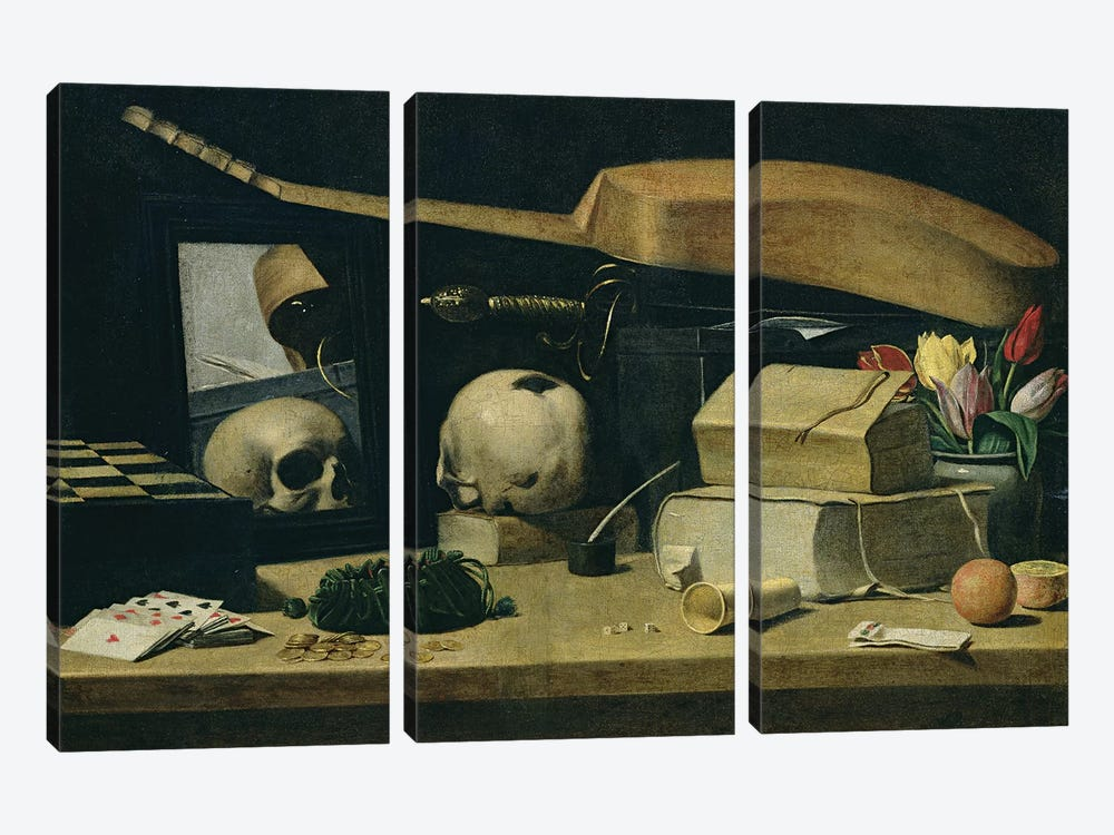 Vanitas  by French School 3-piece Canvas Art