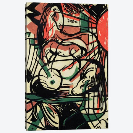 The Birth of the Horse, 1913  Canvas Print #BMN2666} by Franz Marc Canvas Print