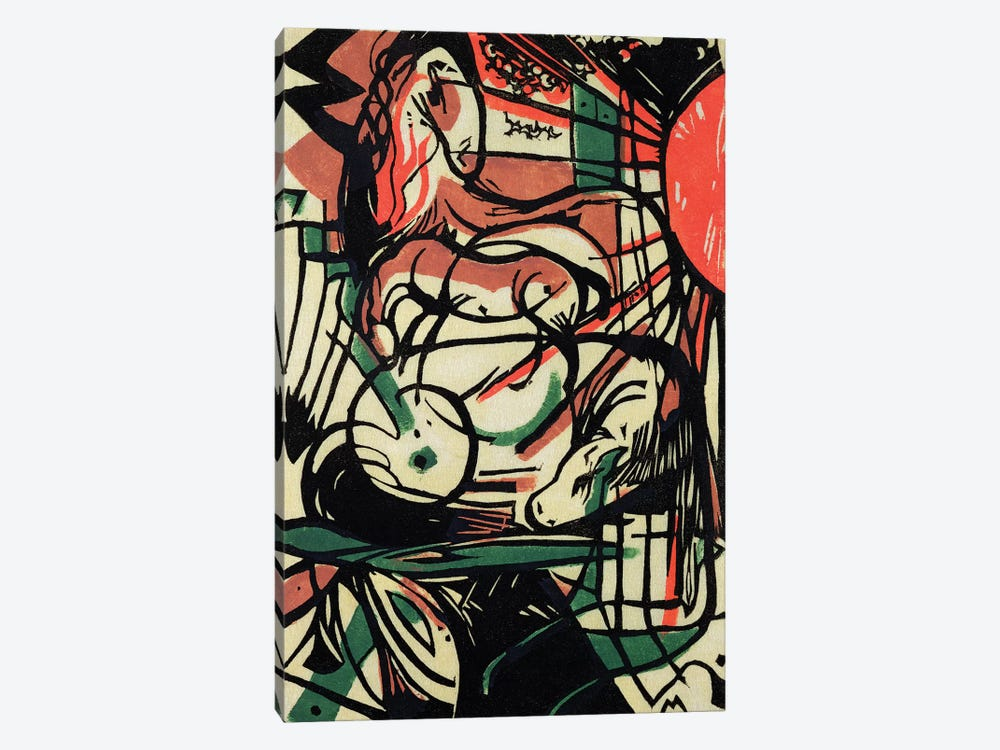 The Birth of the Horse, 1913  by Franz Marc 1-piece Art Print