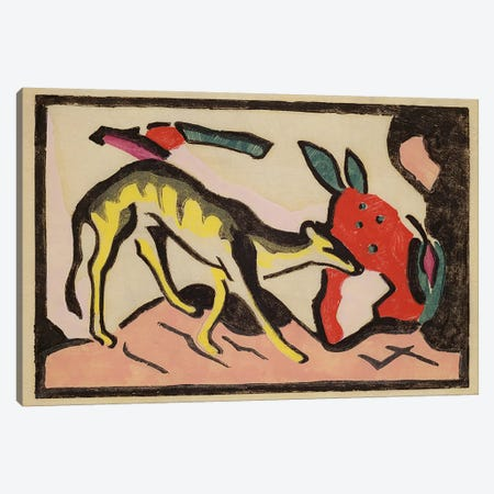 Faultier, 1912  Canvas Print #BMN2667} by Franz Marc Canvas Print