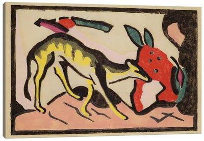 Faultier, 1912  Canvas Art Print
