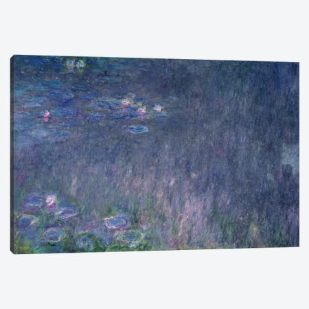 Waterlilies: Reflections of Trees, detail from the left hand side, 1915-26  Canvas Print #BMN2668} by Claude Monet Canvas Art