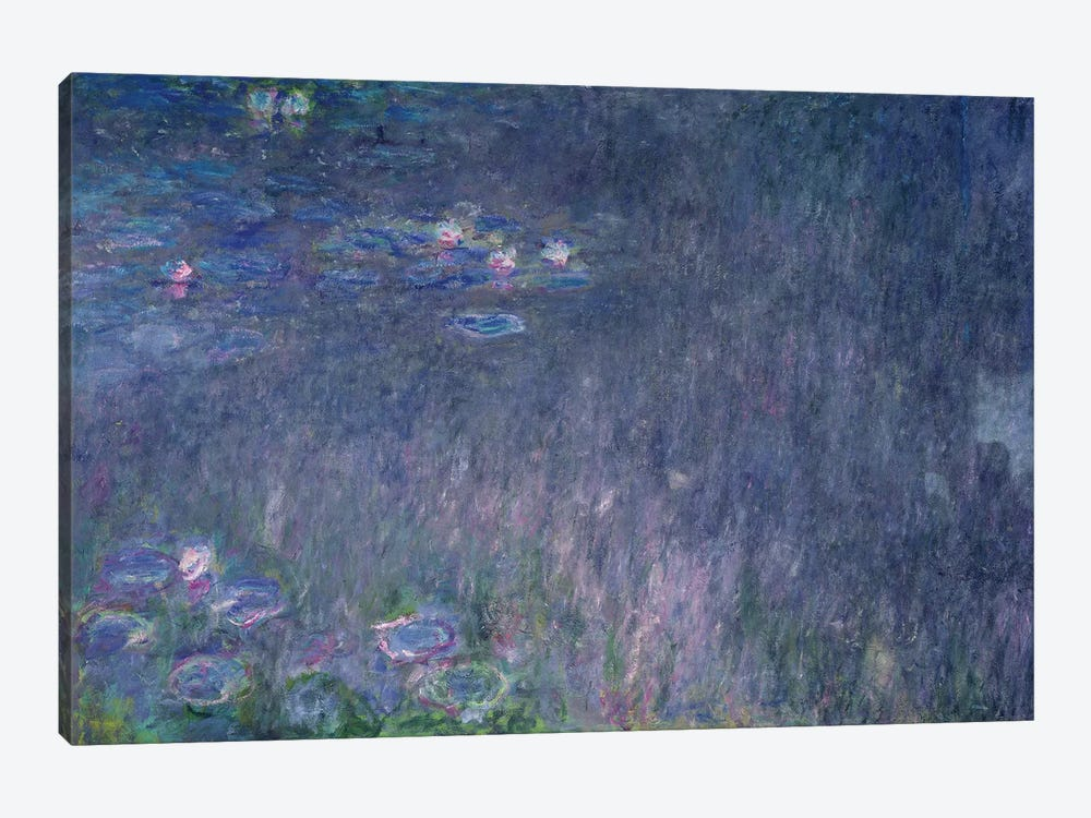 Waterlilies: Reflections of Trees, detail from the left hand side, 1915-26  by Claude Monet 1-piece Art Print