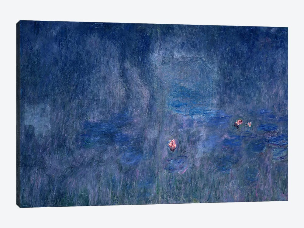 Waterlilies: Reflections of Trees, detail from the central section, 1915-26 by Claude Monet 1-piece Canvas Wall Art