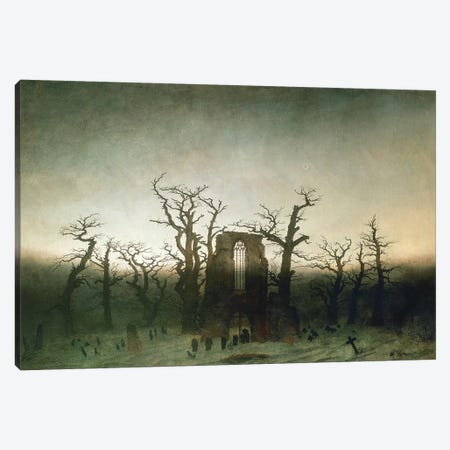 The Abbey In The Oakwood, 1810  Canvas Print #BMN266} by Caspar David Friedrich Art Print