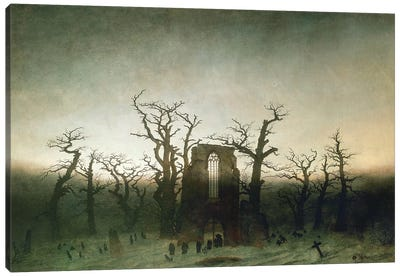 The Abbey In The Oakwood, 1810  Canvas Art Print