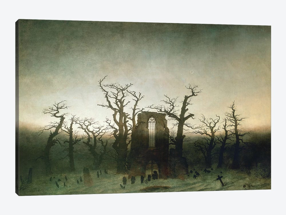 The Abbey In The Oakwood, 1810  1-piece Canvas Artwork