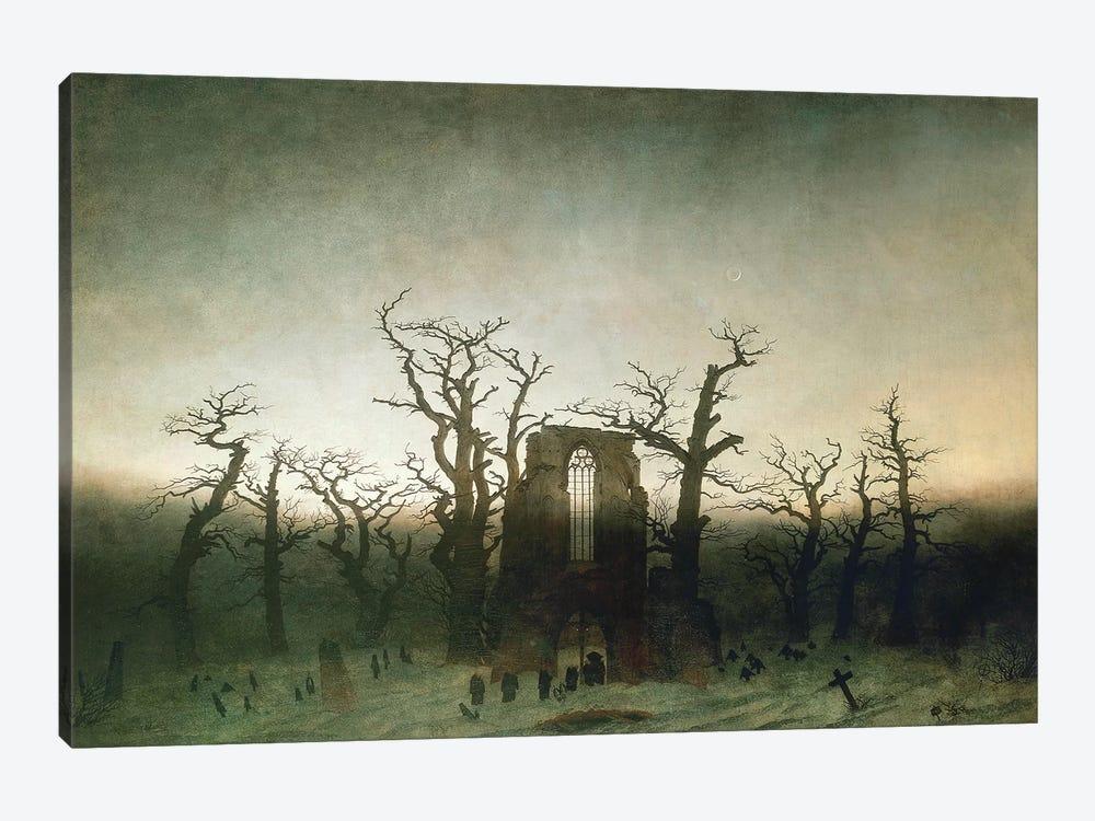 The Abbey In The Oakwood, 1810  by Caspar David Friedrich 1-piece Canvas Artwork