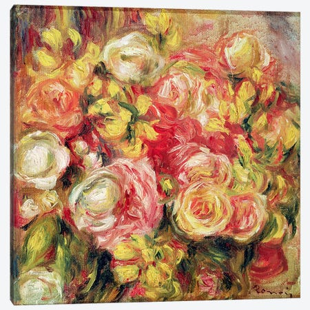Roses, 1915  Canvas Print #BMN2670} by Pierre-Auguste Renoir Canvas Print
