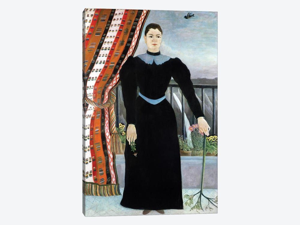 Portrait Of A Woman, 1895 by Henri Rousseau 1-piece Canvas Print