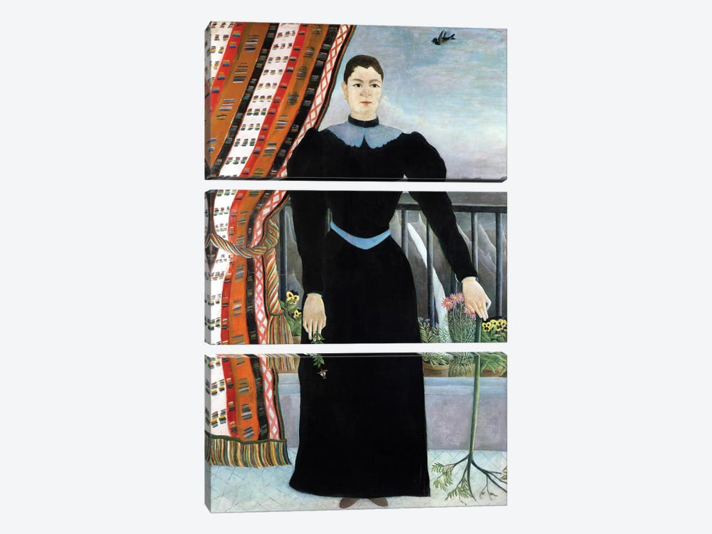 Portrait Of A Woman, 1895 by Henri Rousseau 3-piece Art Print