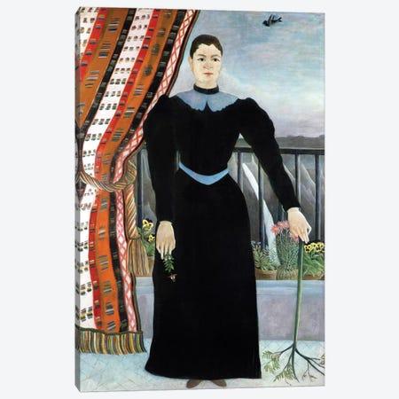 Portrait Of A Woman, 1895 3-Piece Canvas #BMN2671} by Henri Rousseau Art Print
