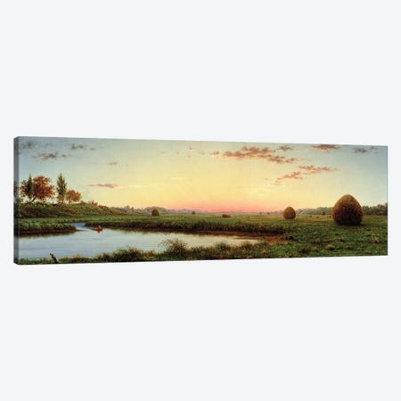 Haystacks on the Newburyport Marshes, 1862  Canvas Print #BMN2672} by Martin Johnson Heade Art Print
