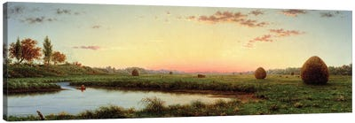 Haystacks on the Newburyport Marshes, 1862  Canvas Art Print