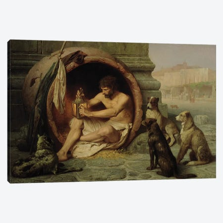 Diogenes, 1860  Canvas Print #BMN2674} by Jean Leon Gerome Canvas Art