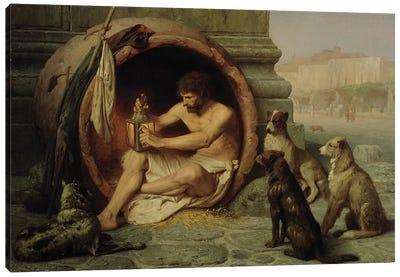 Diogenes, 1860  Canvas Art Print