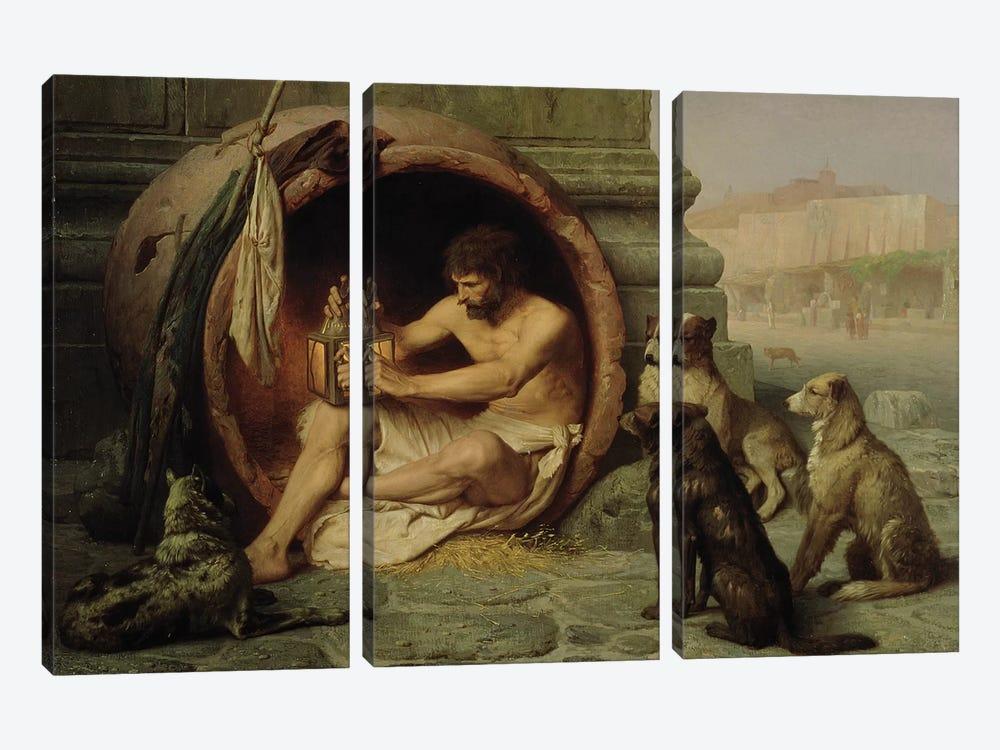 Diogenes, 1860  by Jean Leon Gerome 3-piece Canvas Artwork