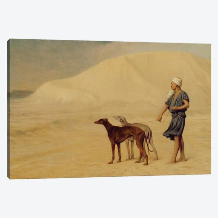 On the Desert  Canvas Print #BMN2675} by Jean Leon Gerome Canvas Wall Art