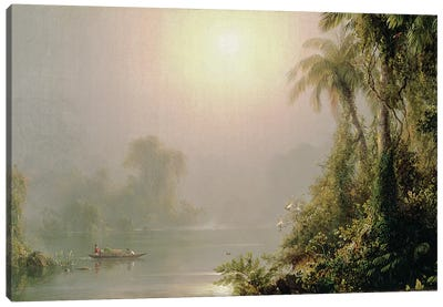Morning in the Tropics, c.1858  Canvas Art Print