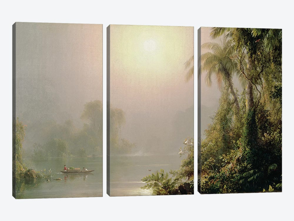 Morning in the Tropics, c.1858  by Frederic Edwin Church 3-piece Art Print