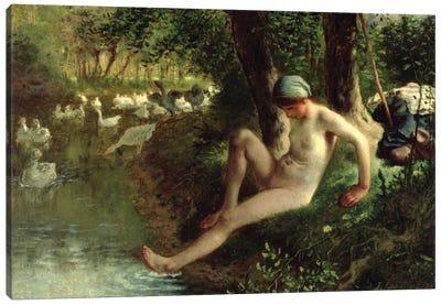 The Bather, 1863  Canvas Art Print