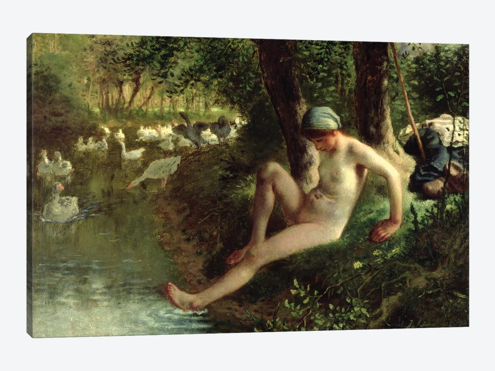 The Bather, 1863  by Jean-Francois Millet 1-piece Canvas Artwork