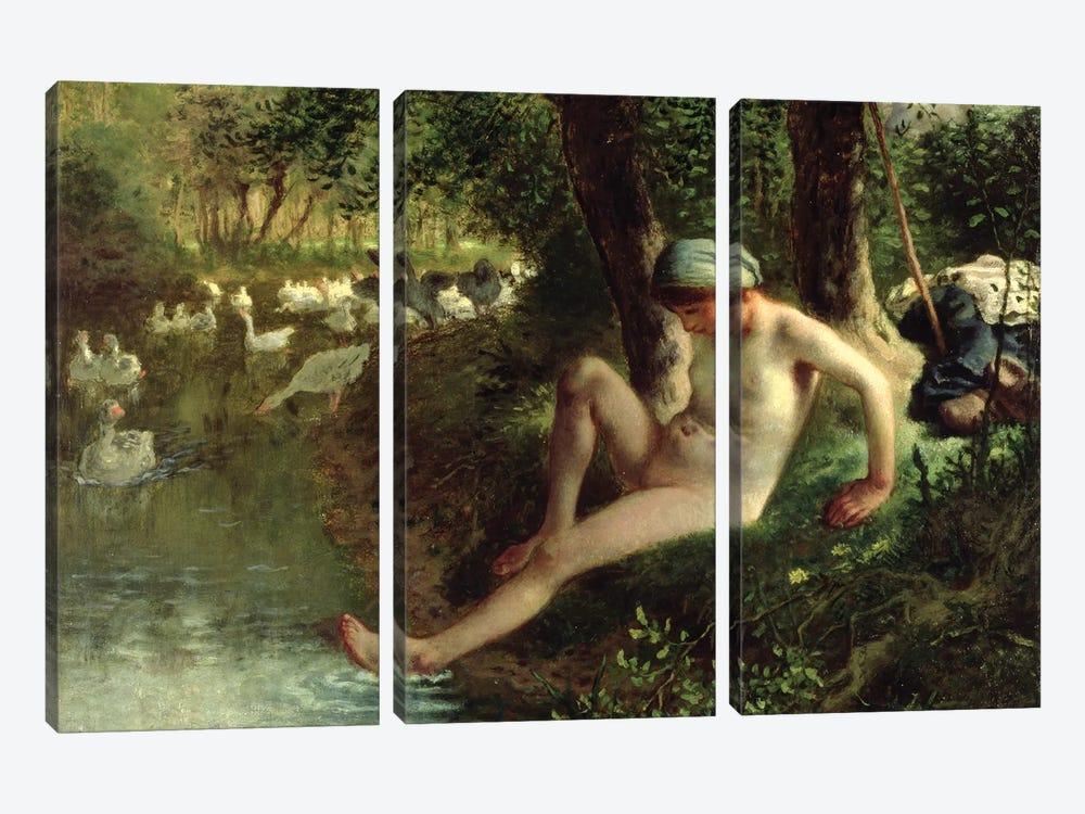 The Bather, 1863  by Jean-Francois Millet 3-piece Canvas Artwork