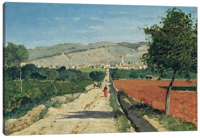 Landscape in Provence. View from Saint-Saturnin-d'Apt, 1867  Canvas Art Print