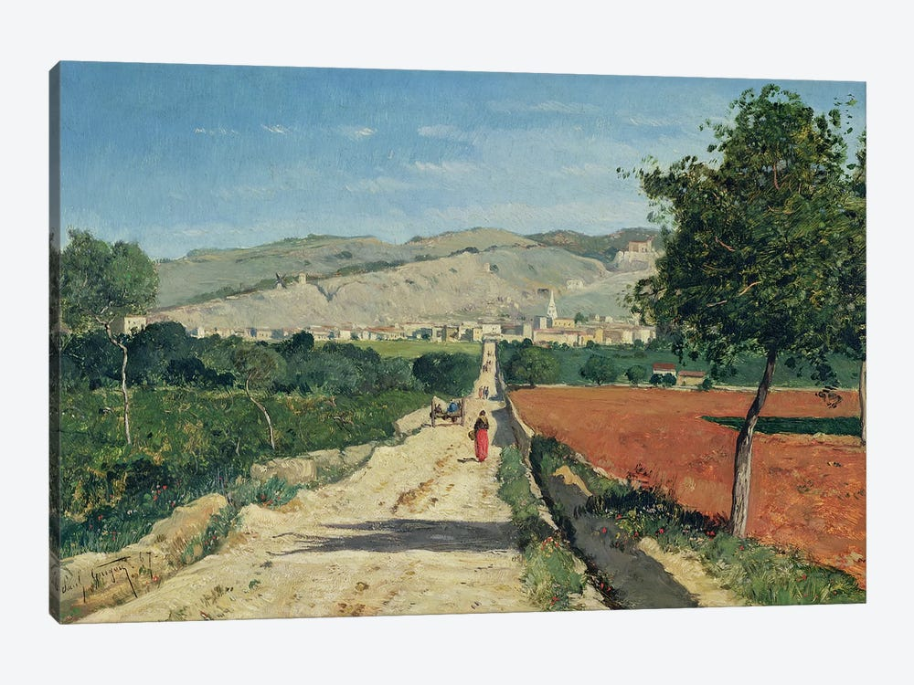 Landscape in Provence. View from Saint-Saturnin-d'Apt, 1867  by Paul Camille Guigou 1-piece Canvas Print
