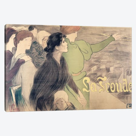 Poster for 'La Fronde'  Canvas Print #BMN2683} by Clementine-Helene Dufau Canvas Wall Art