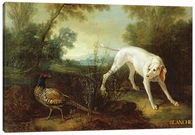 Blanche, Bitch of the Royal Hunting Pack  Canvas Art Print