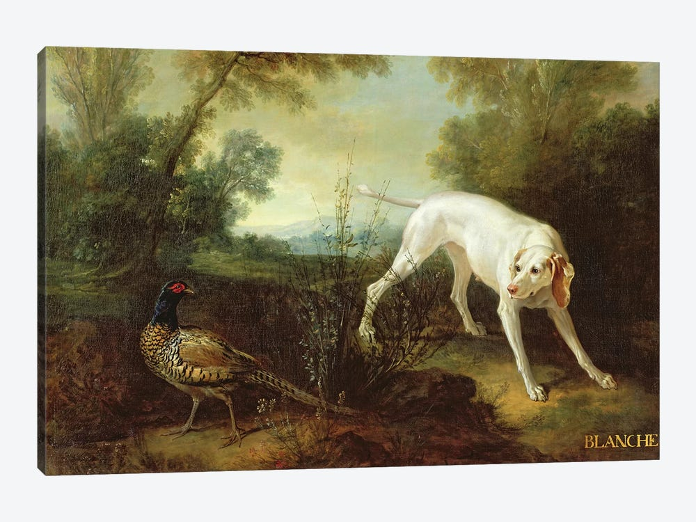 Blanche, Bitch of the Royal Hunting Pack  by Jean-Baptiste Oudry 1-piece Art Print
