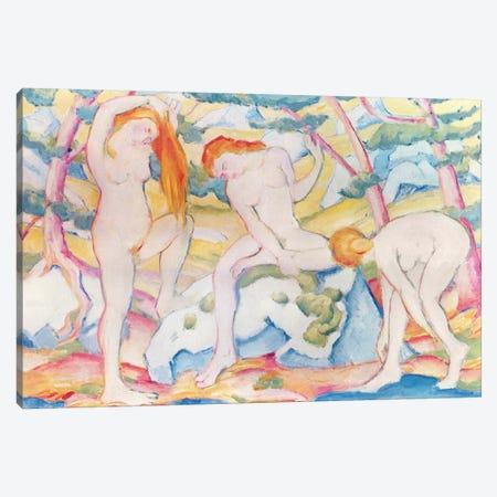 Bathing Girls, 1910  Canvas Print #BMN2702} by Franz Marc Canvas Print