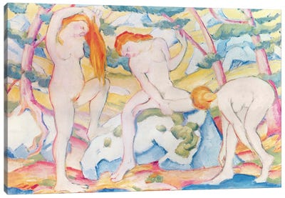 Bathing Girls, 1910  Canvas Art Print