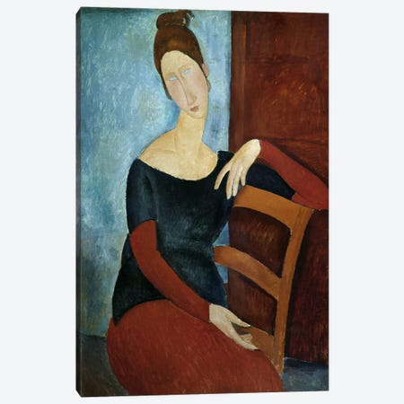 The Artist's Wife  Canvas Print #BMN2703} by Amedeo Modigliani Canvas Art Print