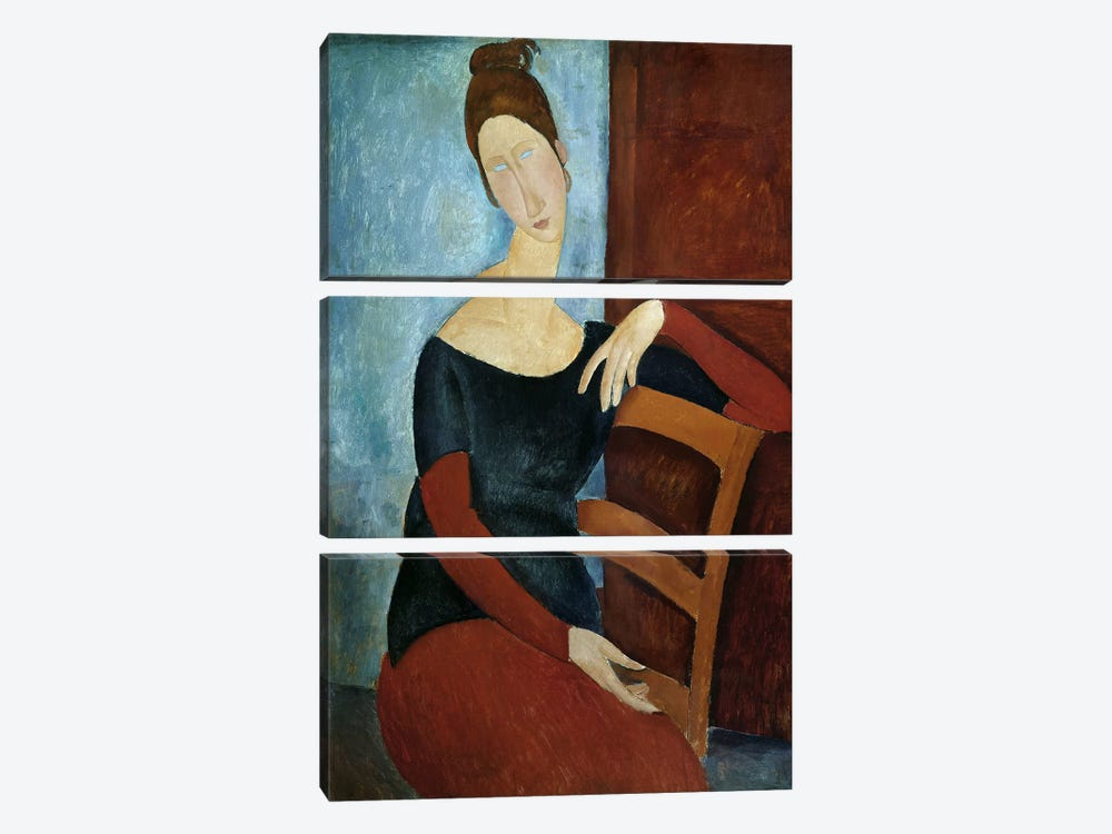 The Artist's Wife by Amedeo Modigliani 3-piece Canvas Art Print