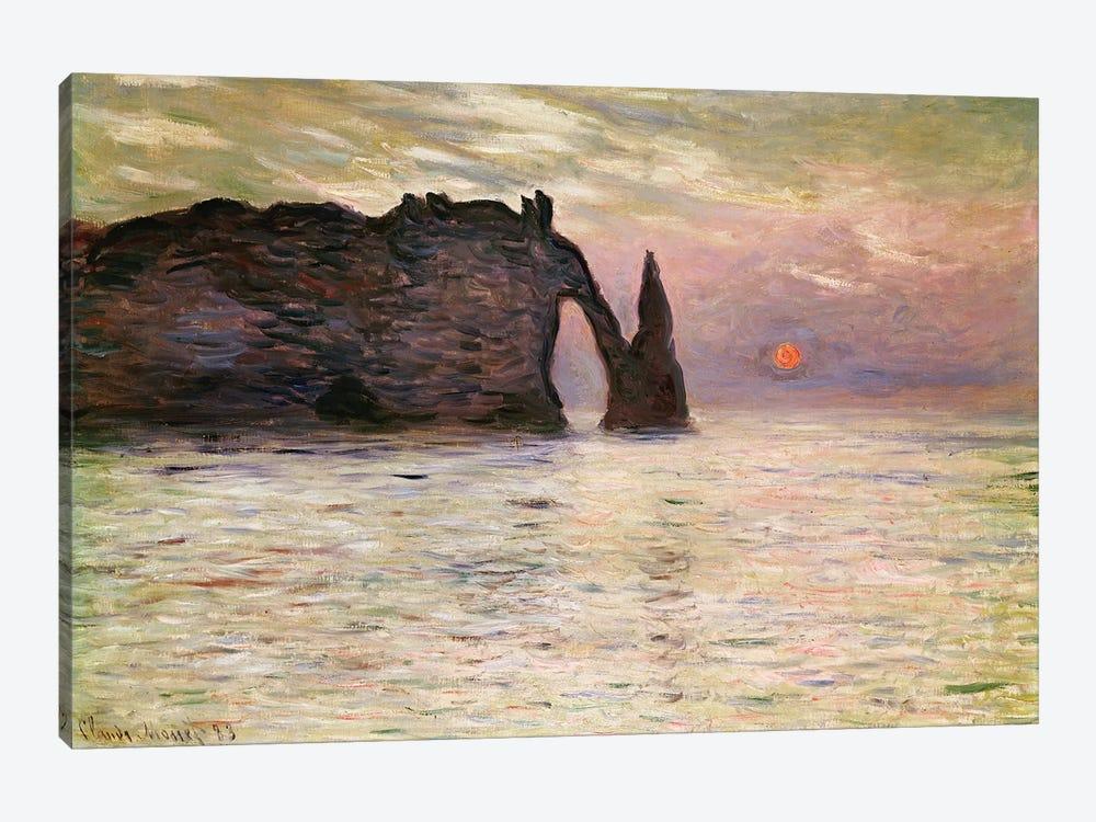 Falaise d'Etretat, 1883  by Claude Monet 1-piece Canvas Artwork