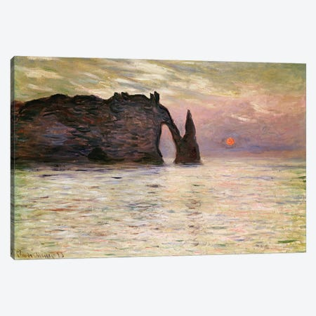 Falaise d'Etretat, 1883  Canvas Print #BMN2704} by Claude Monet Canvas Artwork