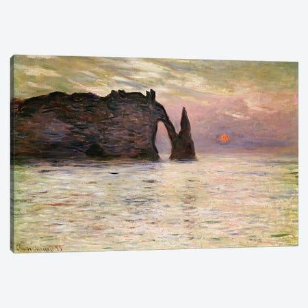 Falaise d'Etretat, 1883  3-Piece Canvas #BMN2704} by Claude Monet Canvas Artwork